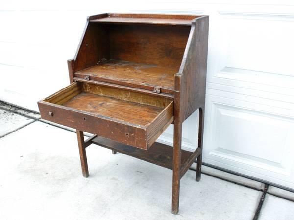 Photo Mission Style Drop Leaf Desk ... Fixer Upper, DIY Project, Small Desk - $100 (Logan Square)