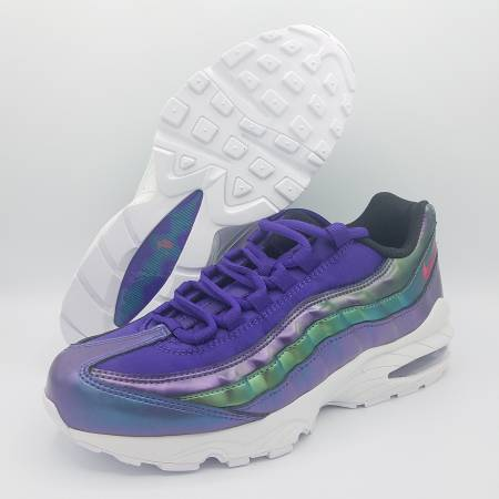 Photo NEW Nike Air Max 95 SE Iridescent Purple Green Kids Sz 7Y  Womens 8.5 - $100 (Naperville)