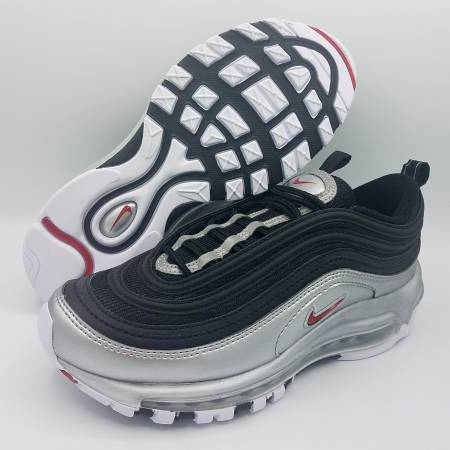Photo NEW Nike Air Max 97 QS B-Sides Silver Bullet Mens 5.5  Womens 7 360 - $140 (Naperville)