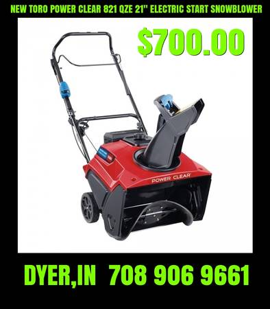 Photo NEW TORO POWER CLEAR 821 QZE 21quot ELECTRIC START SNOWBLOWER - $700 (DYER,IN 35 MINUTES SOUTH OF CHICAGO)