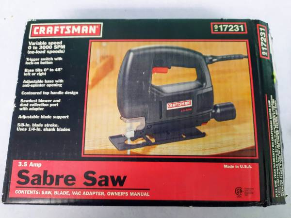 Photo NOS Craftsman 9-17231 3.5a Variable Speed Scrolling  Orbital Sabre Sa - $45 (Downers Grove)
