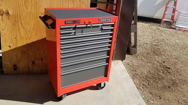 Photo New Proto rolling tool cabinet chest box - $325 (woodstock illinois)