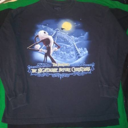 Photo Nightmare Before Christmas Disney Long Sleeve Vintage Large L T-Shirt - $25 (Chicago)