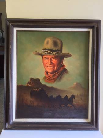 Photo Original Oil on Canvas Peter Shinn John Wayne - $150