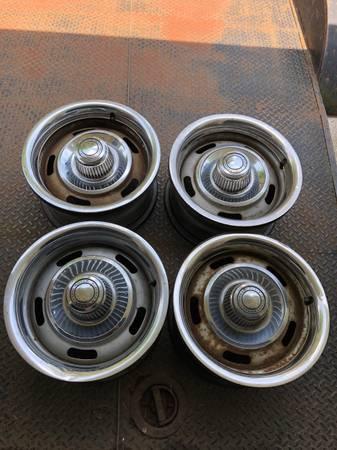 Photo Set of Chevy rally wheels - $400 (Machesney Park)
