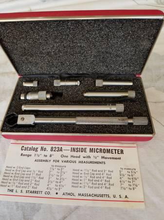 Photo Starrett No 823A Inside Micrometer - $45 (Schererville)