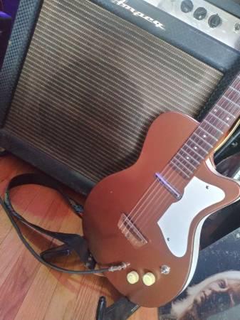 Photo Vintage 1959 Silvertone Danelectro U1 Copper - $700 (Portage Park)