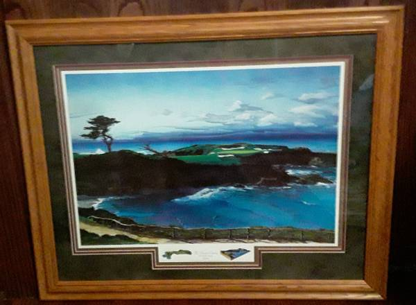 Photo dream course hole 16 Cypress 1994 signed print by Elizabeth Peper - $110 (Beverly Morgan park Chicago)