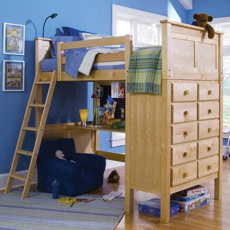 Photo natural finish supreme quality Twin loft bed - $550 (chicago)