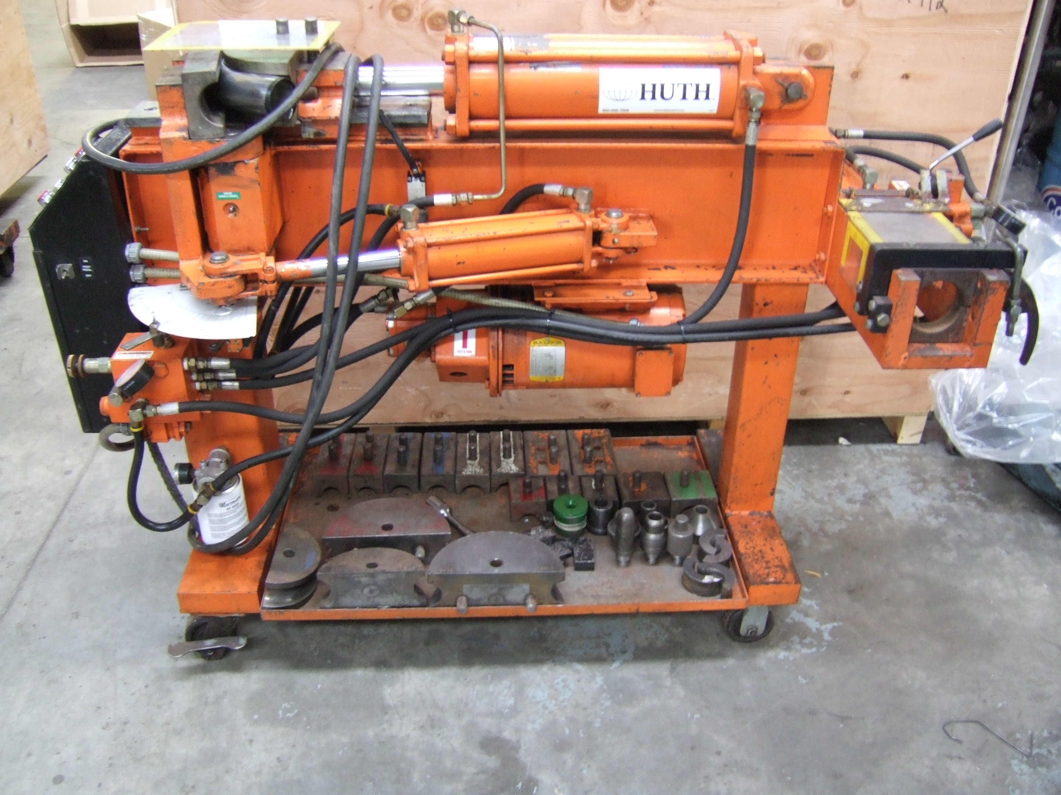 Photo Huth HB2801 Exhaust Bending Machine with Tooling - Exhaust Pipe Bender