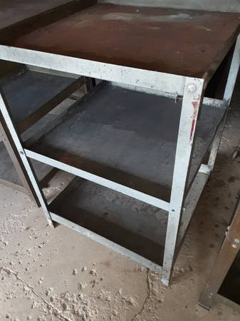 Photo vintage steel tables benches carts welding machine shop steunk - $1 (lyons industrial)