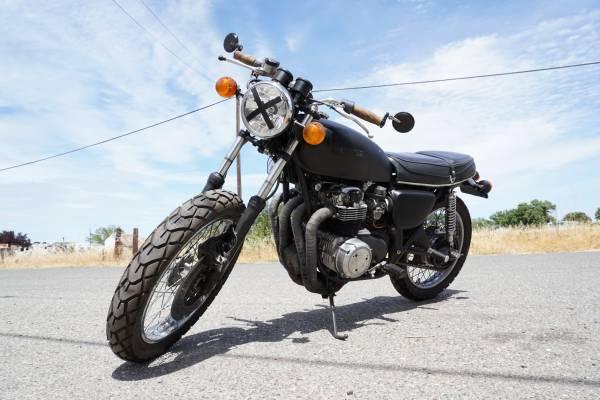 Photo 1972 Honda CB500 four- flat black - $2,800 (willows)