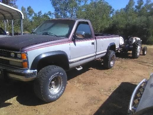 Photo 1988 Chevy 34 Ton 4x4 - $1,100 (Oroville)