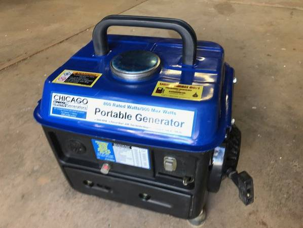 Chicago Electric 800900 Watts Portable Generator - $50 (Oroville - off Foothill)