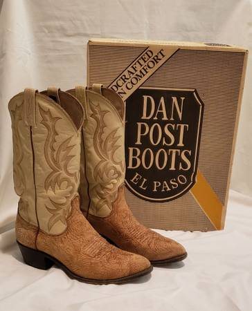 Photo Dan Post Cowboy Boots Mens Size 9 - $50 (Chico)