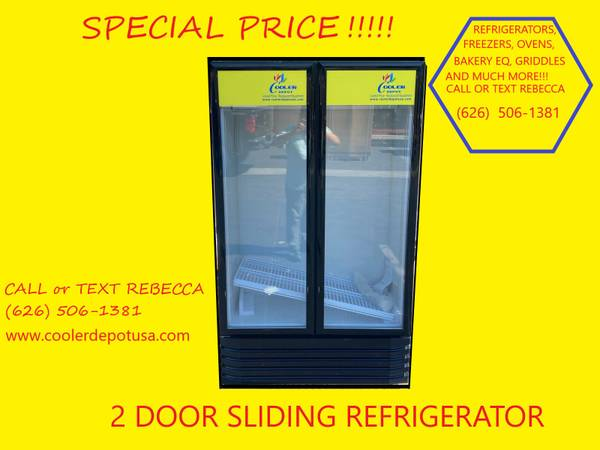 Photo Double Sliding Door Glass Door Refrigerator (Restaurant Equipment - $890 (100 new)