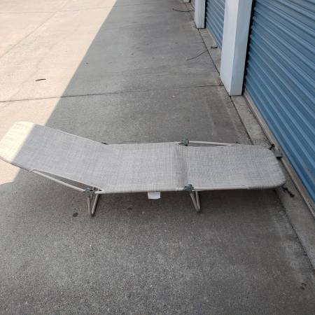 Photo Folding Chaise Lounge Beach Chair with Rustproof Steel Frame - $30 (lChico)