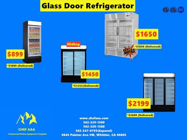 Photo NSF One  Two  Three-door Glass Refrigerator (Restaurant Equipment) - $899 (WHITTIER)
