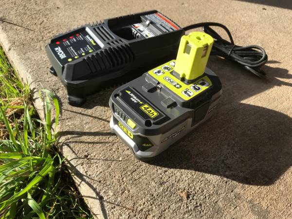Photo Ryobi 18v Charger and HP 4Ah Battery - $60 (Chico)