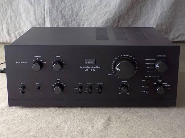 Photo Sansui AU-417 Integrated Amplifier recappedrestored 65wpc - $725 (Chico)