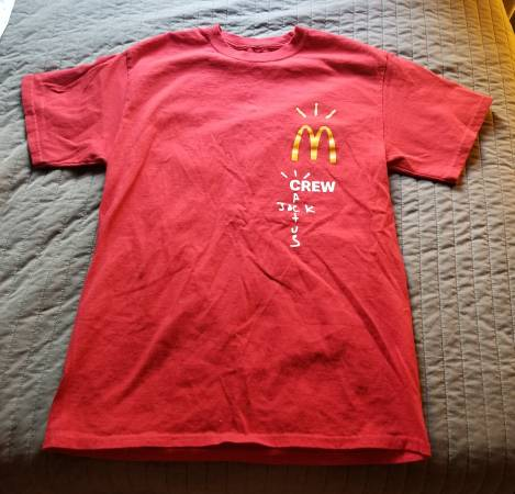Photo TRAVIS SCOTT Cactus Jack McDonalds Tshirt - $40 (Chico)