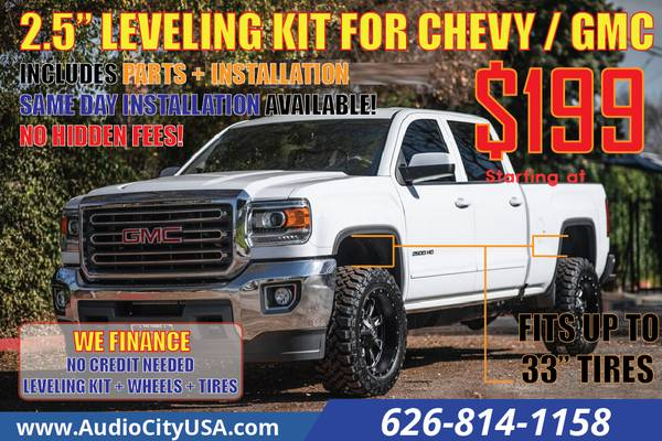 Photo 2.5 Leveling Kits for Chevrolet Silverado 1500 GMC Sierra 1500 - $199 (Includ install)