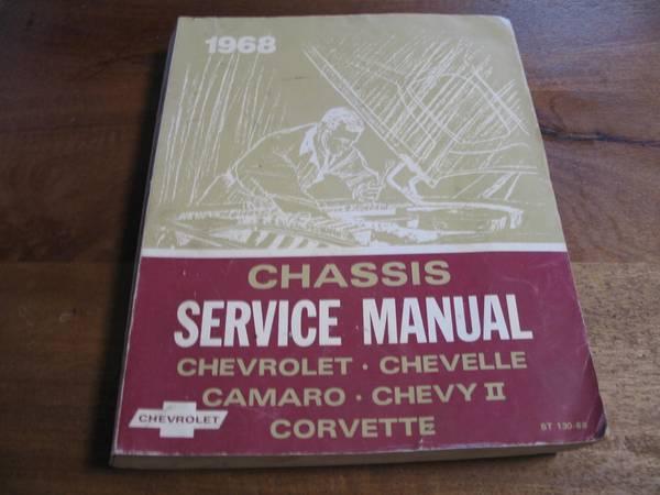 Photo 1968 CHEVROLET CHASSIS SERVICE MANUAL CORVETTE - $20 (Lancaster)