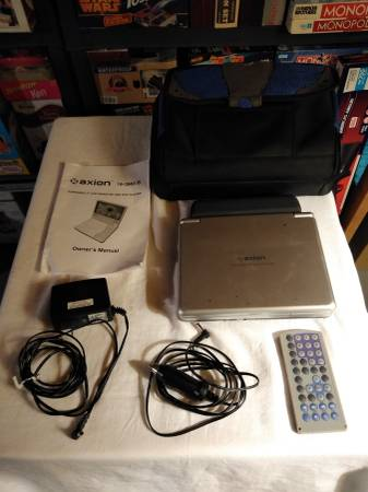 Photo 7quot Portable DVD PlayerLCD Monitor w ACDC Car Adapter,  Travel Case - $58 (Columbus)