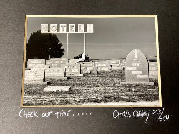 Photo Matted Print of Check out Time by Artist Chris Coffey - $29 (Worthington)