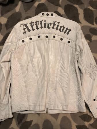 Photo Mens affliction leather jacket - $150 (Chillicothe)