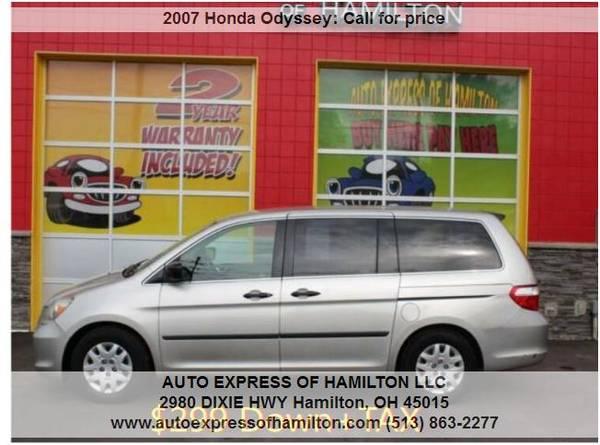 Photo 2007 Honda Odyssey $299 DownTAX BUY HERE PAY HERE - $299 (Auto Express of Hamilton)