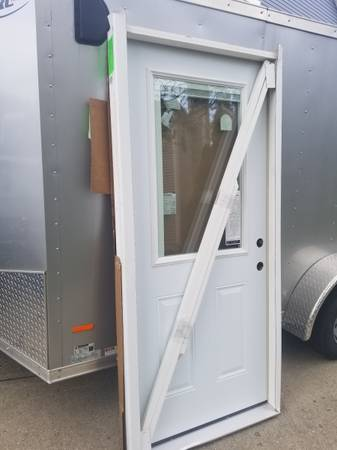 Photo 36x80 exterior door with half glass and blinds - $300 (Miami township)