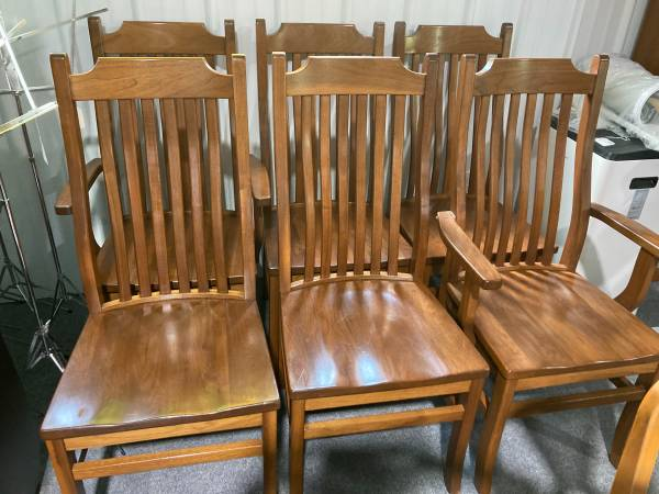 Photo 6 Wood Mission Style Dining Chairs - $325 (West Chester)