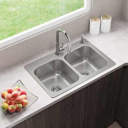 Photo Dual Mount Stainless Steel Sink - $75 (Batavia Oh)