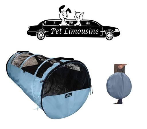 Photo HandinHandCreations Pet Tube Soft Car Crate Large Kennel - $50 (Mason)