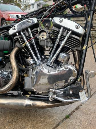 Photo Harley Davidson 1969 Generator Shovelhead Trade for Panhead (Cincinnati)