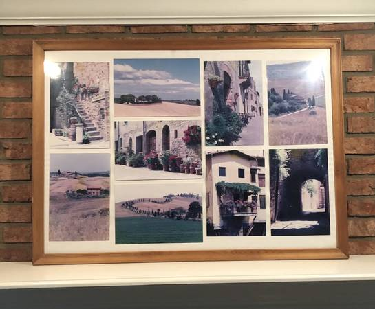 Photo Large 40 x 30 inch wood frame with glass with Tuscany (Italy) pictures - $49 (CINCINNATI)