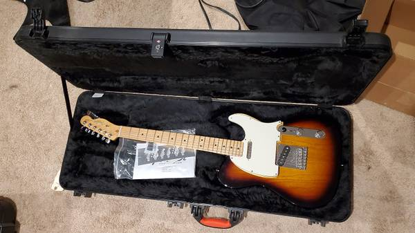 Photo Last chance Fender American Standard Telecaster wOHSC  Custom Shop pickups - $850 (Cincinnati)