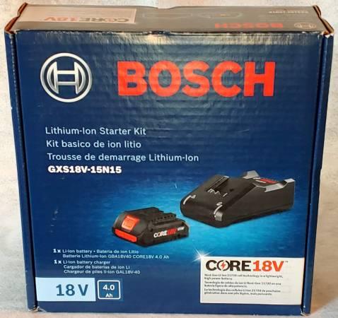 Photo NEW Bosch GXS18V-15N15 18V 4Ah BATTERY  CHARGER Core Lithium-ion - $79 (Batavia  Cincinnati)