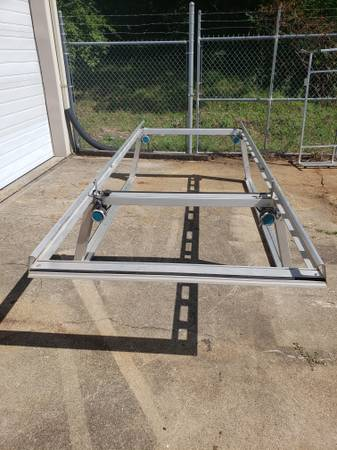 Photo System One 8ft Truck Bed Ladder Rack, with Straps and Ratchets - $700 (Delhi)