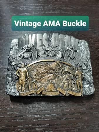 Photo Vintage Harley Davidson AMA Belt Buckle - $85 (Mt Washington  Cincinnati)