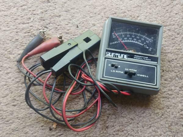 Photo Vintage Suntune Inductive Dwell Tach Meter - $20 (Owensville)