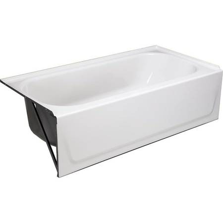 Photo White Enameled Steel Left-Hand Drain Alcove Bathtub - $145 (Georgetown OH)