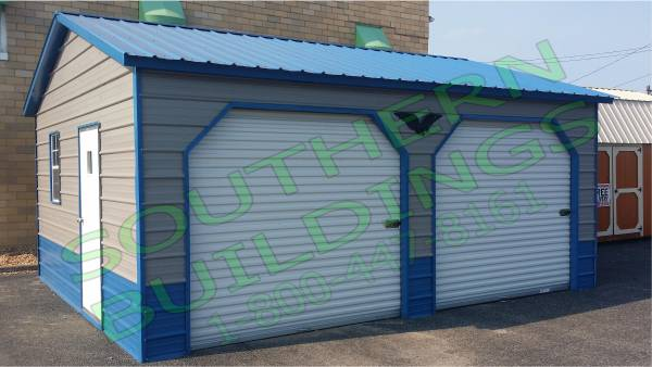 Photo 2 Car QUALITY 100 Steel Garage Metal Building Equipment Storage Shed - $4395