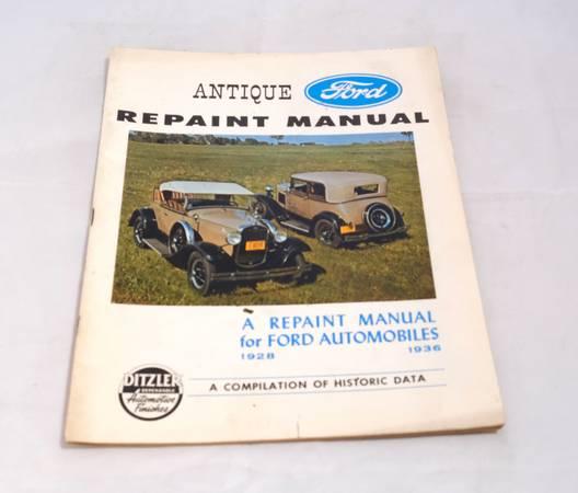 Photo Antique Ford Repaint Manual - 1928 - 1936 - $20 (Arrington)
