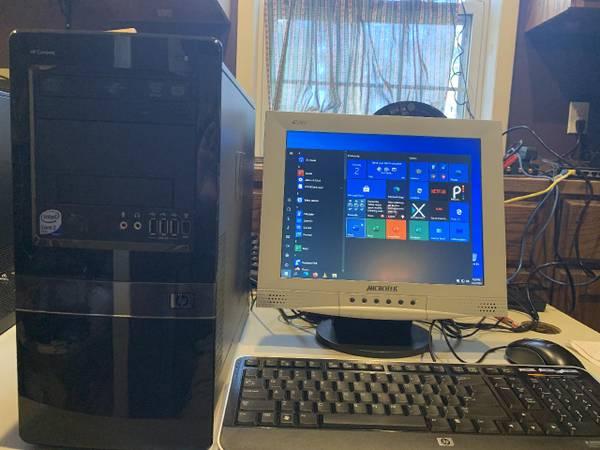 Photo HP Desktop Computer - Dual Core wLCD, KB, Mouse - $125 (Westside)