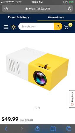 Photo High resolution led 7201080p projector (new)$40 - $40 (Erin tn)