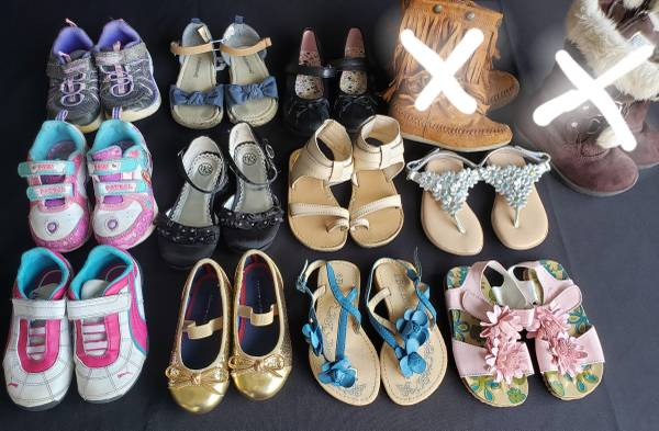 Photo Size 8 toddler girls dress shoes sandals sneakers tennis (Tiny Town Rd Clarksville)