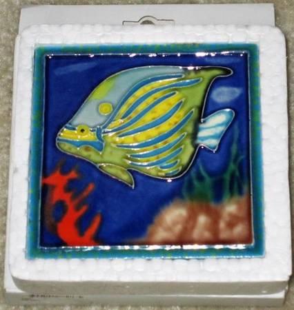 Photo Tropical Fish Ceramic CoasterWall Art - $10