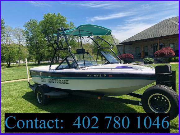Photo 1995 Ski Nautique 21 ft boat with trailer - $1,600 (cleveland)